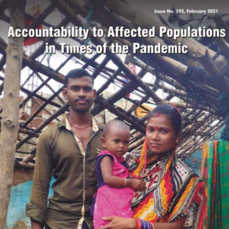Accountability to Affected Populations in Times of the Pandemic: publication of the South Asia Disaster.net journal